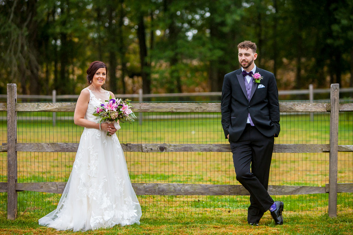 intimate wedding bride and groom portrait
